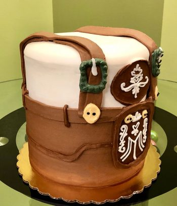 Oktoberfest Lederhosen Layer Cake - Side