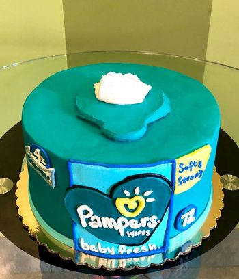 Pampers Baby Wipes Layer Cake - Top