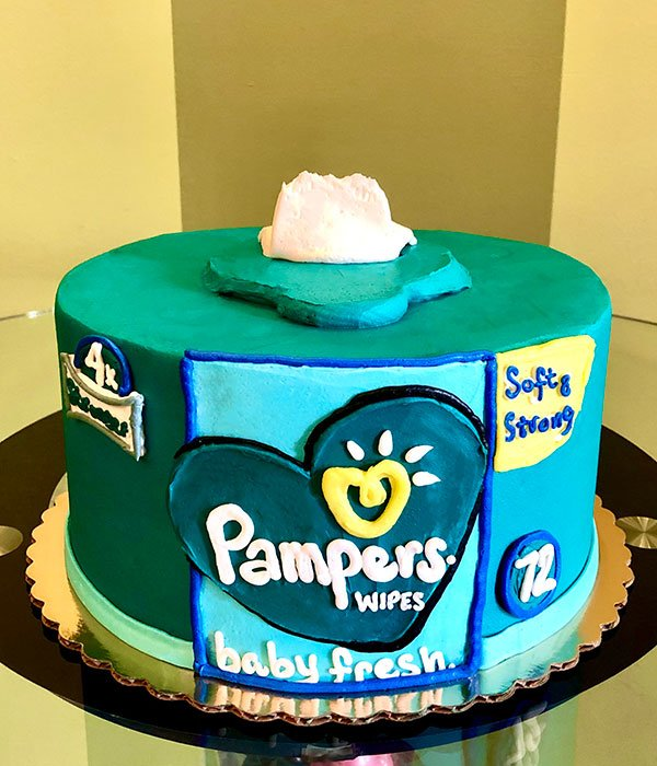 Pampers Baby Wipes Layer Cake