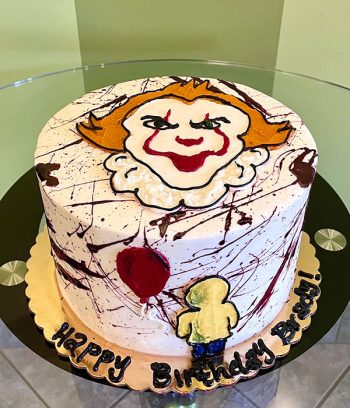 Scary Clown Layer Cake
