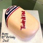 Twinkie Shaped Cake