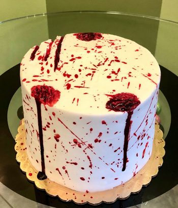 Vampire Blood Layer Cake - Top