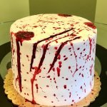 Vampire Blood Layer Cake - Side