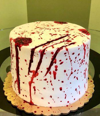 Vampire Blood Layer Cake - Side