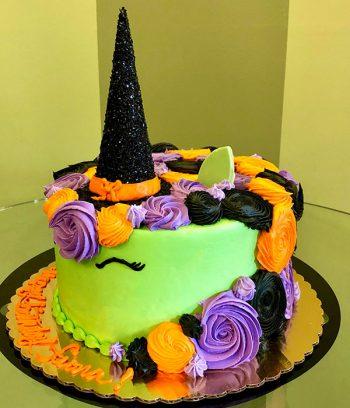 Witch Unicorn Layer Cake - Side