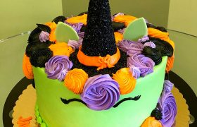 Witch Unicorn Layer Cake
