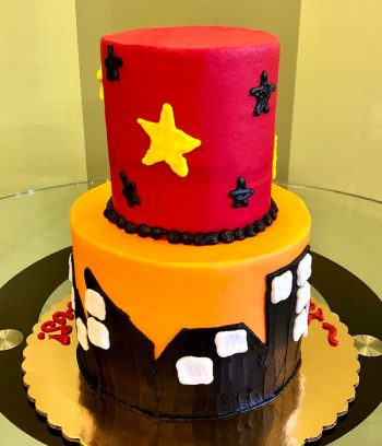 Incredibles Tiered Cake - Back