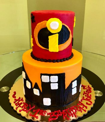 Incredibles Tiered Cake