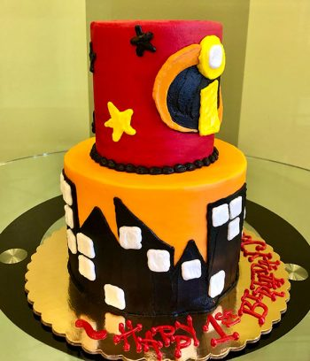 Incredibles Tiered Cake - Side