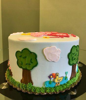 Peppa Pig Fairy Layer Cake - Side