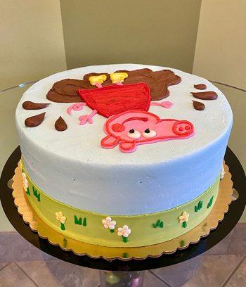 Peppa Pig Layer Cake - Side Top