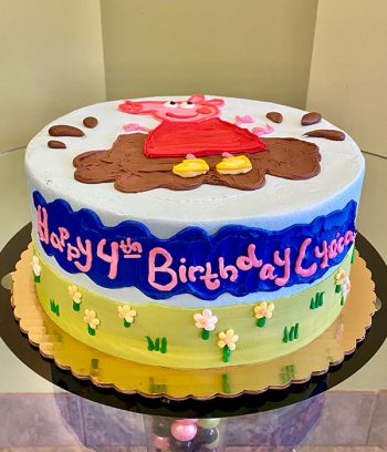 Peppa Pig Layer Cake - Side