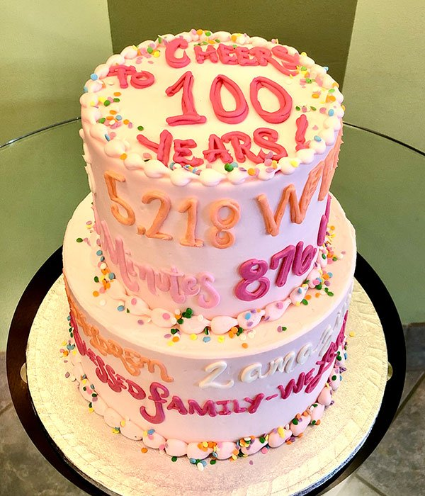 Quotes & Sayings Tiered Cake