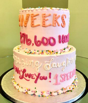 Quotes & Sayings Tiered Cake - Side