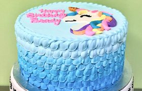 Unicorn Ruffle Layer Cake