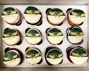 Baby Yoda Cupcakes