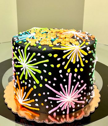 Fireworks Layer Cake - Side