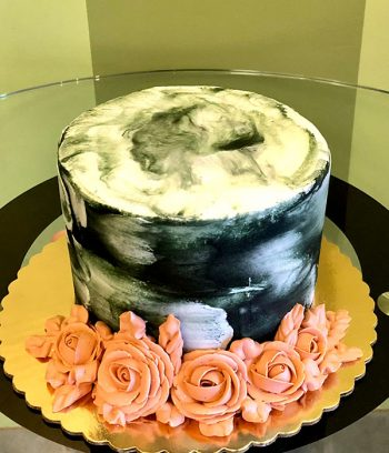 Marble Rose Layer Cake