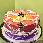 Marshmallow Spiderweb Layer Cake