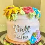 Mason Jar Vase Layer Cake