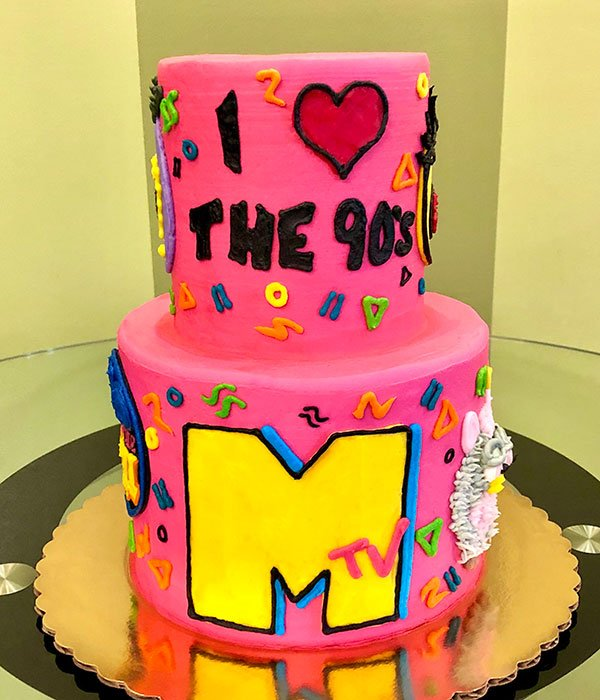 Totally 90's Tiered Cake