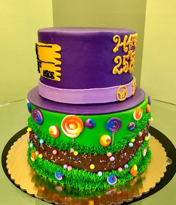 Willy Wonka Tiered Cake - Side