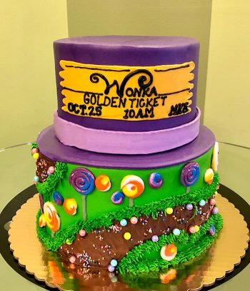Willy Wonka Tiered Cake - Back