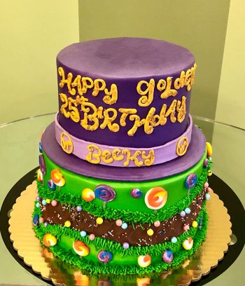 Willy Wonka Tiered Cake - Top