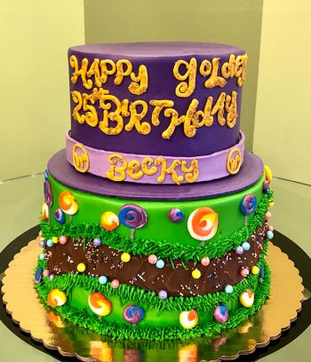 Willy Wonka Tiered Cake