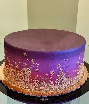 Flat Ombre Glitter Layer Cake - Mulberry Red & Plum Purple