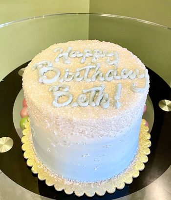 Flat Ombré Glitter Layer Cake - Light Blue
