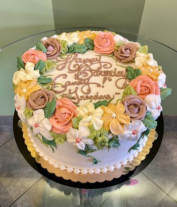 Floral Wreath Layer Cake