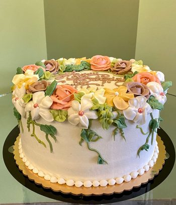 Floral Wreath Layer Cake - Side