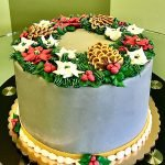 Holiday Wreath Layer Cake