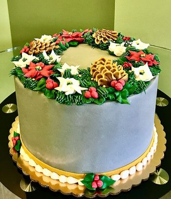 Holiday Wreath Layer Cake