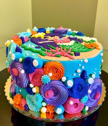 Mermaid Cove Layer Cake - Back