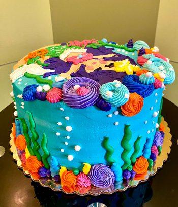 Mermaid Cove Layer Cake - Side