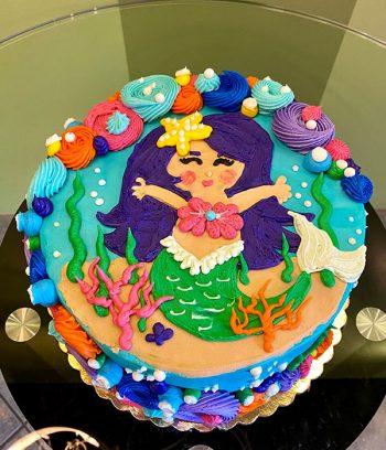 Mermaid Cove Layer Cake - Top