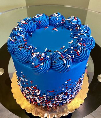 Patriotic Sprinkle Layer Cake - Top