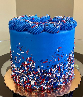 Patriotic Sprinkle Layer Cake - Side