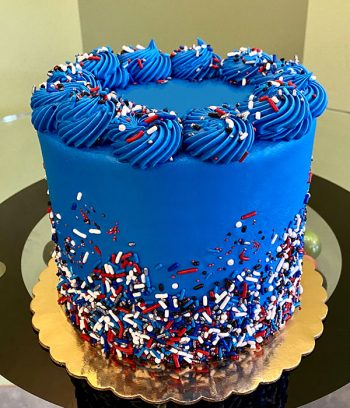 Patriotic Sprinkle Layer Cake