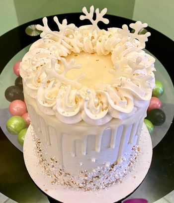Winter Layer Cake - White & Gold