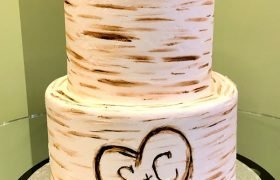Birch Tree Tiered Cake