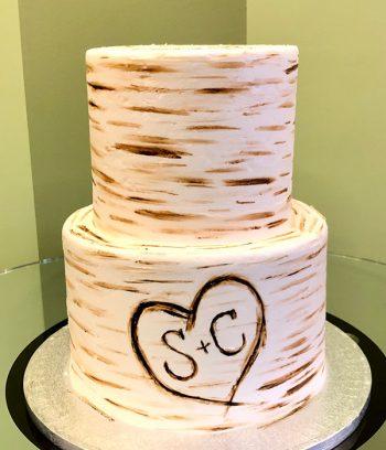 Birch Tree Tiered Cake