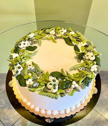 Greenery Wreath Layer Cake - Top