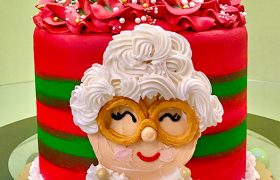 Mrs. Claus Layer Cake