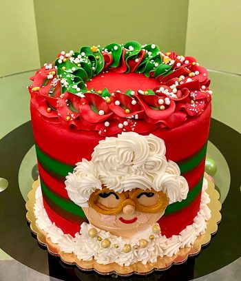 Mrs. Claus Layer Cake - Top