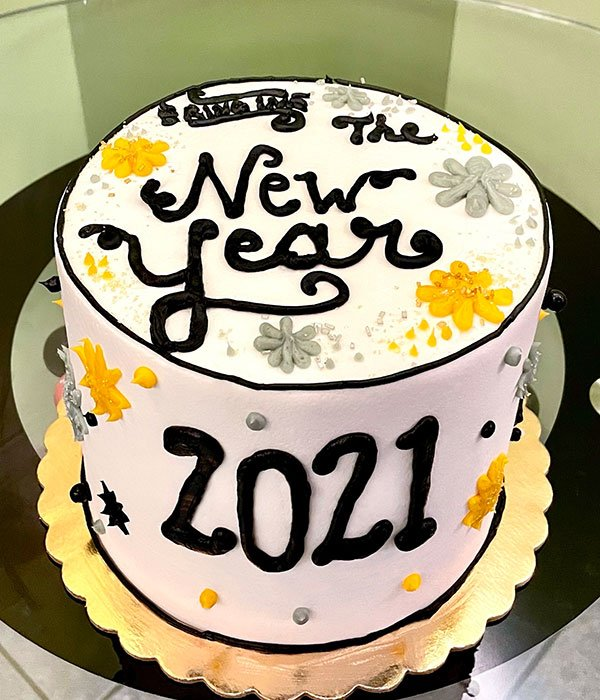 Ring in the New Year Layer Cake