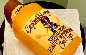 Rum Bottle Shaped Cake