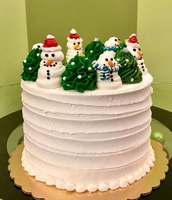 Snow Globe Layer Cake